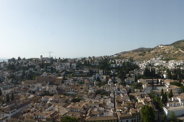 View of Granada from the Alhambra Palace