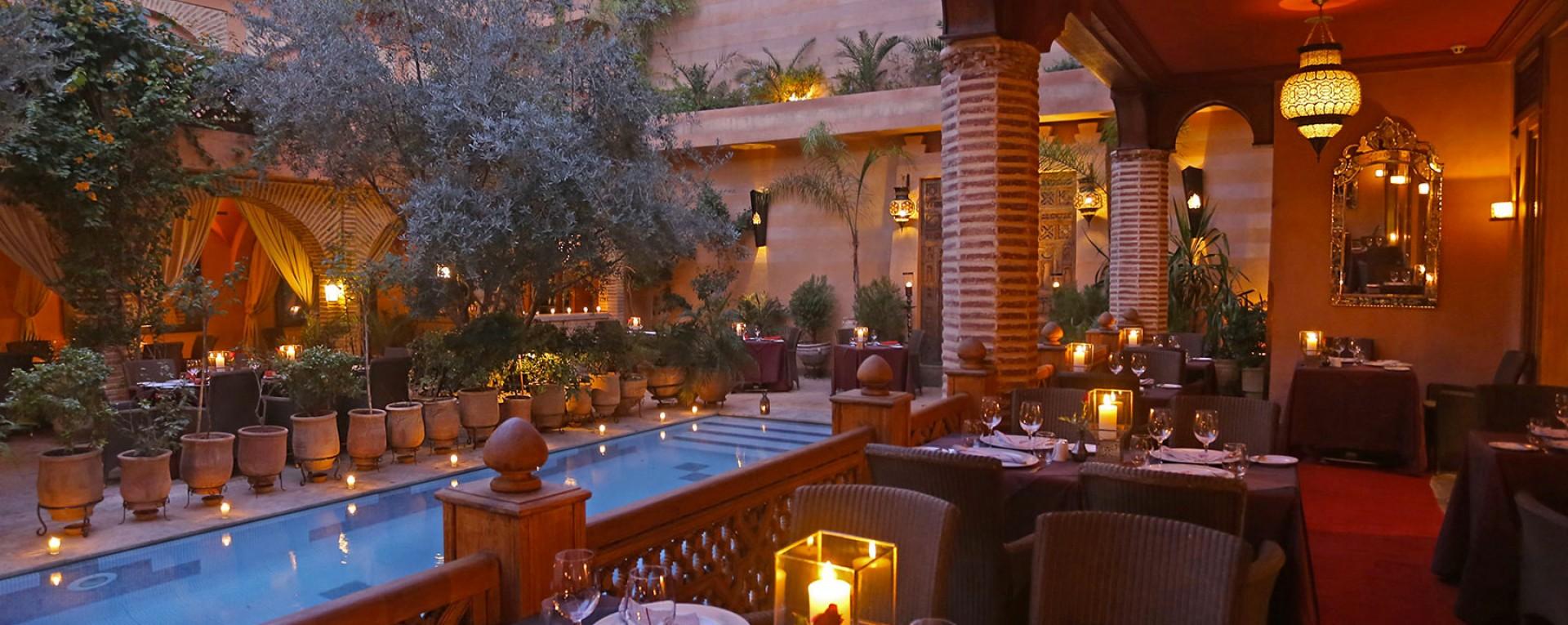 La maison arabe hotel marrakech morocco further afield for Jardin restaurant madison